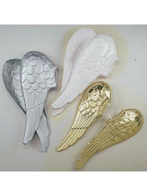Festartikel Müller EIN Paar Engelsflügel aus Plastik ca. 60cm Silber