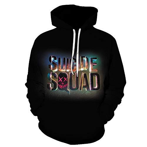 Anime warmes Sweatshirt 3D gedrucktes Sweatshirt Suicide Squad Hoodie Cosplay Unisex Hoodie Suicide Squad-XXL Squad Hoodie Sweatshirts