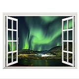 Mddjj 3D Stereo Window View Home Allein Blaue Laser Sternenhimmel Wand Aufkleber S Versorgung Sterne Himmel Ungerade Licht Landschaft Diy Wohnzimmer Poster Wandbild Home Decor Kinderzimmer