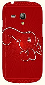 Wonderful multicolor printed protective REBEL mobile back cover for S3 Mini / Samsung I8190 Galaxy S III mini D.No.N-T-5615-S3M