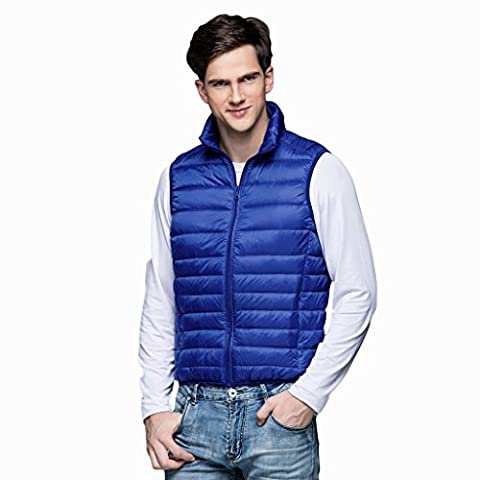 SEEU Mens Gilet Down Vests For Men Lightweight Gilets Packable Puffer Jacket Coat Outdoor Zipper Vest Royal Blue