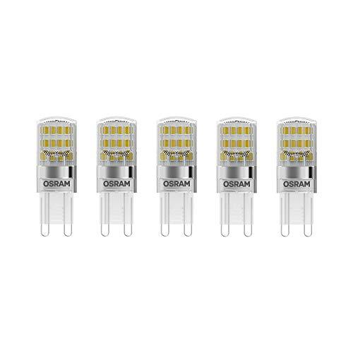 Osram LED Base Pin G9 / Lampe, G9, 2, 60 W, 30-W-Ersatz - für, klar, Warm White, 2700 K, 5 - er-Pack -