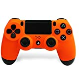 Soft Orange PlayStation 4 Rapid Fire Modded Controller for COD Black Ops3, Infinity Warfare, AW, Destiny, Battlefield: Quick Scope, Drop Shot, Auto Run, Sniped Breath, Mimic, More