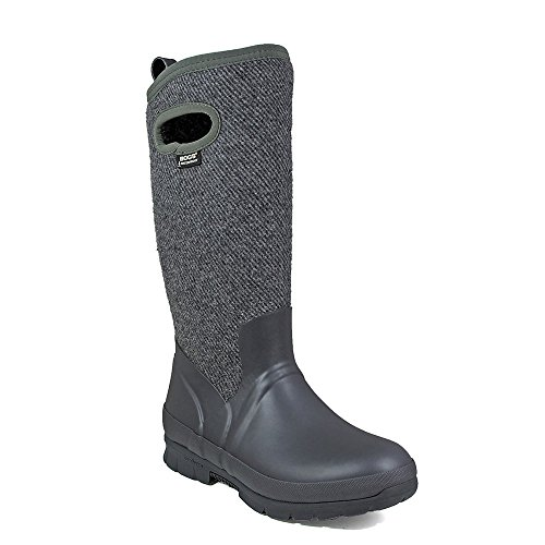 Bogs Crandall Tall Wool Womens Wellies Gris foncé