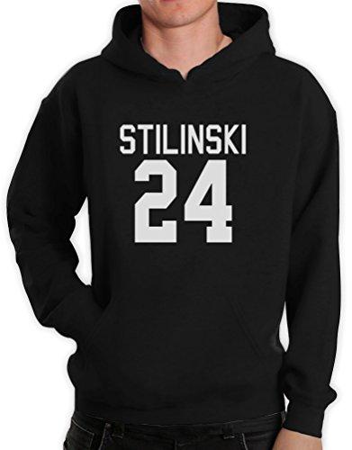 Stilinski 24 Schwarz Large Kapuzenpullover Hoodie (Teen Kostüm Hoodie)