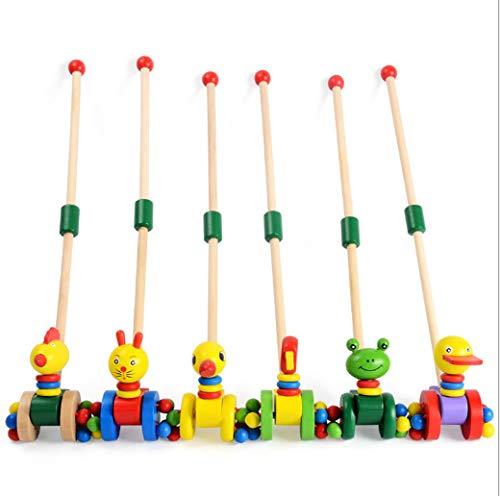 LIUKEQINGE Abnehmbare Säugling und Kind Puzzle frühen Unterricht Schritt für Schritt aus Holz einpolig Kleinkind Trolley Push-Spielzeug (Säuglings-und Kleinkind-spielzeug Aus Holz)