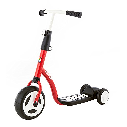 Kettler Kinderroller Kid's Scooter Boy - cooler Kinder-Scooter für Jungs - Kinderroller ab 2 Jahre mit höhenverstellbarem Lenker - Roller mit drei Rädern - rot