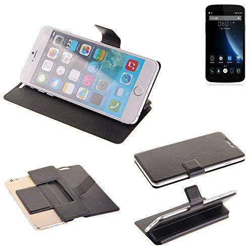 K-S-Trade Schutz Hülle für Doogee X6S Schutzhülle Flip Cover Handy Wallet Case Slim Handyhülle bookstyle schwarz