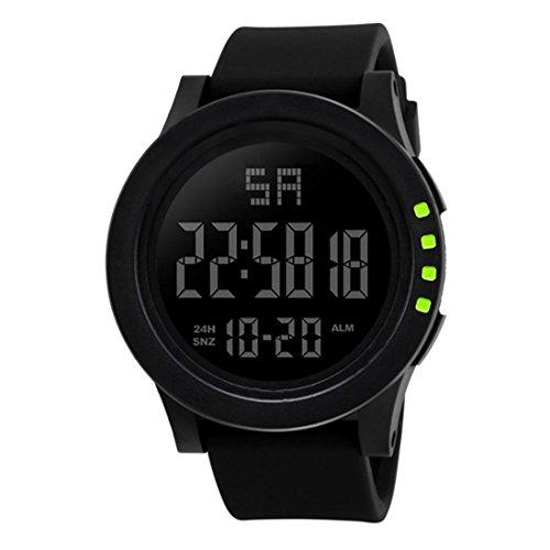 Armbanduhr,Binggong 2018 LED-wasserdichte Digital Quarz Mode Uhr Militärsport Männer Sport Wasserdicht Datum Kalender Digital Armbanduhr für Herren Sports Armband (55MM, Gelb 2)