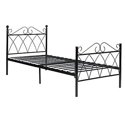 Aingoo Metal Bed Frame in Black