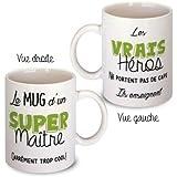 kdosublim Mug Super maître carrément trop Cool Cadeau Fin d'année