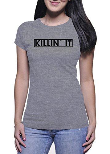 Killin It Damen Grey T-Shirt - Small