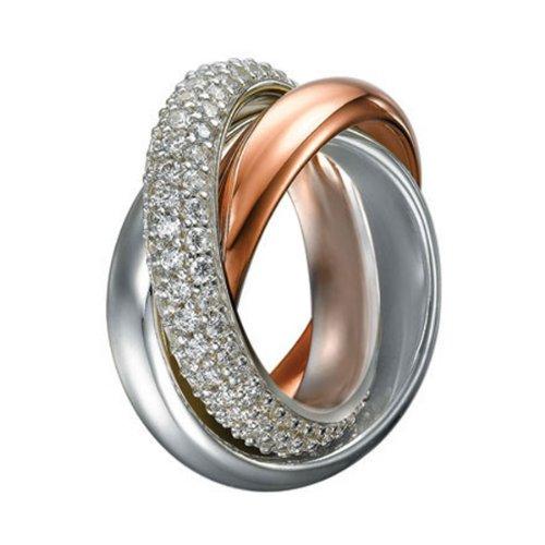 Esprit Damen-Ring 925 Sterling Silber Zirkonia PERIBOA Gr.53 (16.9) ELRG91620A170