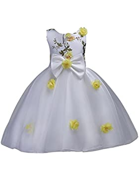 M&A Vestido Verano para Niña Bebé de noche Princesa Fiesta para boda Sin Mangas Tutú Floral