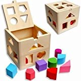 Wooden educational toys children's toys 13-hole intelligence box shape matching with the building blocks infant teaching aids