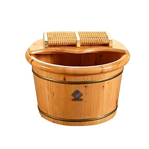 Qing MEI Cypress Barrel Fußbad Fass Mit Deckel Schäumenden Becken Badewanne Fußbad Barrel Fußbad Haushaltsfuß Waschzylinder A++