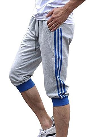 Short Court Coton Homme - Panegy-Shorts Sarouel Pantalon court Lâche Garçon Avec