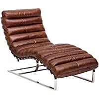 Casa Padrino Luxury Real Leather Vintage Oviedo couch / chair Cigar Brown - leather armchairs Art deco lounge reclining chair