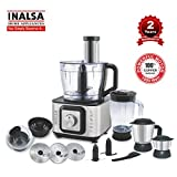 Inalsa Food Processor INOX 1000-Watt With Blender Jar / 304 Grade SS Dry