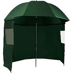 CampFeuer AS3 Parapluie avec coupe-vent et sardines, 300cm, pour la pêche