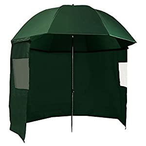 campfeuer fishing umbrella 300cm fisherman's umbrella with wind barrier (cloak) and pegs, as3