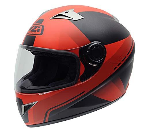 Preisvergleich Produktbild NZI Vital Grafik Volles Gesicht Motorradhelm,  Matt X Vit Fluo Rot,  Größe M