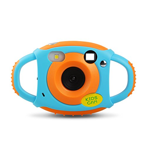 Upgrow Creative Kids Digital Camera Rechargeable Kids Cameras 1.77 inch Screen HD Video Action Camcorder Christmas New Year Birthday Festival Toy Gift for Children Boys Girls (Blue & Orange)