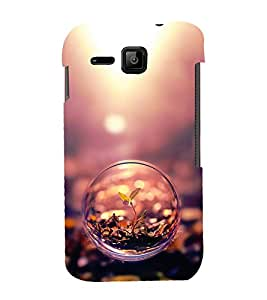 Fuson Designer Back Case Cover for Micromax Bolt S301 (small Plant Bubble Glass Germinating SProuting)