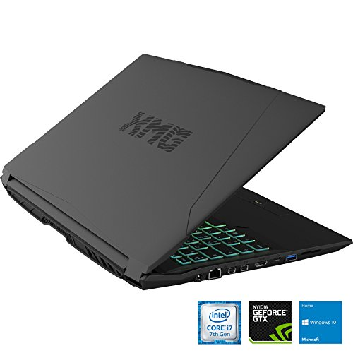XMG A507 phv leading-edge Gaming Laptop 156 filled HD IPS GTX 1050 Ti Intel main i7 7700HQ 16GB RAM 250GB SSD 1000GB HDD Win10 your home schwarz Notebooks
