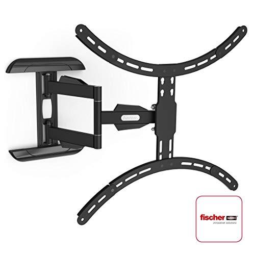 Hama TV-Wandhalterung (neigbar, schwenkbar, vollbeweglich für Fernseher von 37 bis 75 Zoll (94 cm bis 190 cm Bildschirmdiagonale), inkl. Fischer Dübel, VESA bis 600x500, max. 45 kg) schwarz