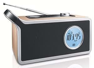 Philips AE2790/12 Radio portable Tuner numérique Réveil 2000 Mw Finition bois Piles ou secteur