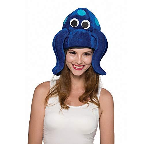 SYMTOP Erwachsene Oktopus Tintenfisch Krake blau Hut Mütze Tierhut Tiermütze Kopfbedeckung Weihnachten Kostüm Halloween Party (Tintenfisch Hut Kostüm)