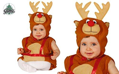 GUIRCA SL.. - Costume Renna Bambino 1/2 Anni, Marrone, 1-2, GU_42532