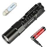 Klarus XT1A Taktische EDC Taschenlampe 1000 Lumen / 182 Meter CREE XP-L HD V6 LED Kompakte Kleine Fackeln Leichte Tragbare Taktische Taschenlampe, mit 14500 Batterie und BanTac USB Light