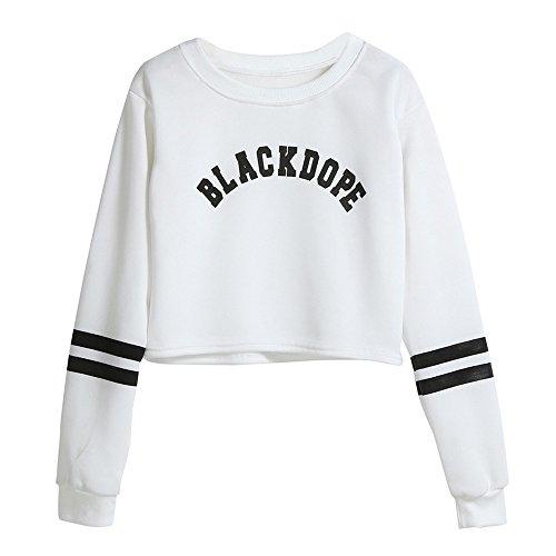 Lurcardo Damen Pulli Pullover Brief Gedruckt Einfach Langarmshirts Sweatshirt Kapuzenpullover Tops Oberteil Bluse Shirt