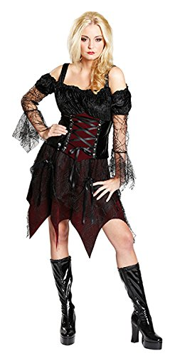 Rubie's Vampirin Gothic Halloween Damenkostüm Hexe schwarz-Bordeaux XXXL