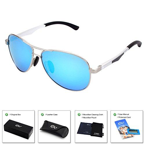 CGID Polarisierte UV400 Schutz Prämie Al MG Metall Rahmen Pilot Sonnenbrille Pilotenbrille Für...