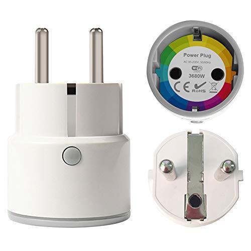 16A Power Monitor Smart Plug Wifi Smart-Buchse Frankreich Euro Eu-Stecker Tuya Smart Life App Alexa Google-Startseite IFTTT,EUplug