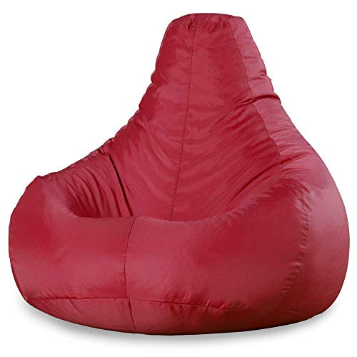 Bean Bag Bazaar - Puf reclinable (para interiores o exteriores, impermeable) - Puffs Asiento (Rojo Oscuro)