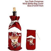 MOMEY 1pc Bolsa de Vino de Navidad Juego de Botellas de Vino Tinto Decoración de Mesa