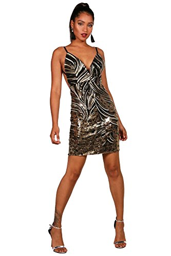 Gold Damen Boutique Tanya Embellished Bodycon Dress