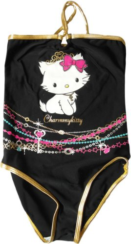 Charmmy Kitty Badeanzug - Charmmy Kitty Glitzerbänder - Schwarz von Hello Kitty - Hello Kitty Teen