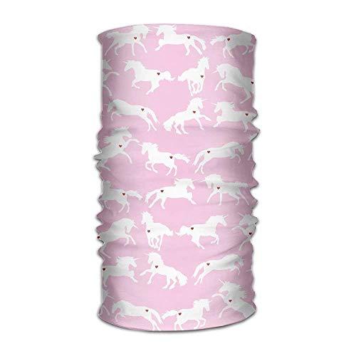 Unisex White Unicorn With Heart In Pink Multifunction Changed Headwear Headscarf Bandanas - Pacific Twill Shirt