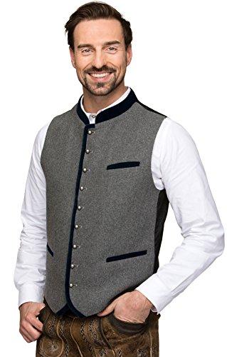 Michaelax-Fashion-Trade Stockerpoint - Herren Trachten Weste in verschiedenen Farben, Alonso, Größe:48, Farbe:Grau-Nachtblau - 5