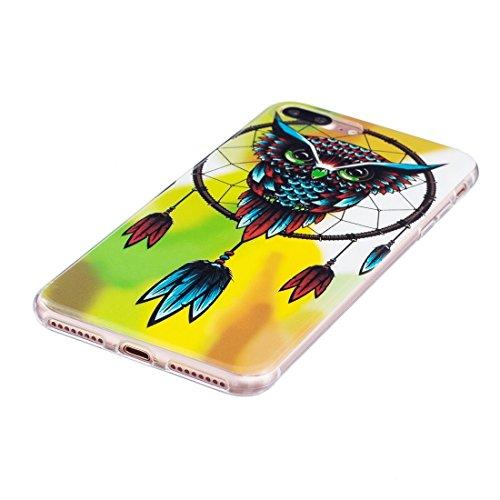 iPhone Case Cover Pour iPhone 7 Plus Noctilucent Plum Pattern IMD Workmanship Soft TPU Back Cover Case ( SKU : Ip7p1673j ) Ip7p1673g