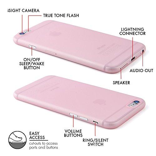 """Schutzhülle für Apple iPhone 6 6s - """"Angusta"""" in der Trendfarbe Rose Quartz - Ultra Slim Case - Leicht durchsichtige Hülle mit Kameraschutz von QUADOCTA Angusta in Rose Quartz"""
