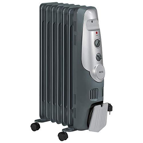 AEG RA 5520 - Radiador de aceite, 1500 W, 7 elementos, termostato, 3 niveles de potencia