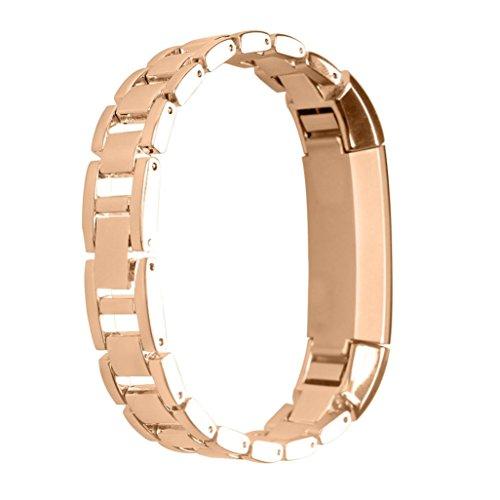 Pour Fitbit Alta Ouneed® Acier Bracelet de Montre Luxury (Rose or)