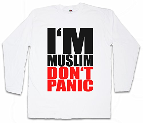 I`M MUSLIM DON`T PANIC II T-SHIRT DE MANGA LARGA LONG SLEEVE SHIRT - Turquía Islam Turchia árabe Muslima musulmán muslima musulmanes Religion Arabic Arabian Istanbul Turkey Constantinople Türkiye