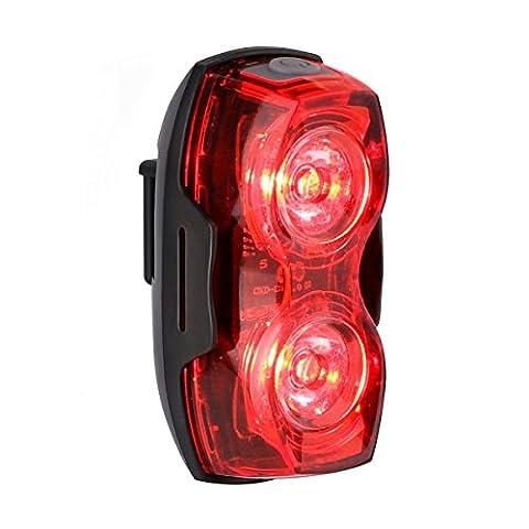 LE Feu Arrière Vélo LED, Cyclisme, Eclairage Arrière, Alimenté par piles, 2 LEDs, 3 Modes d